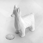 Llama Figurine Pottery  (PAINT SOLD SEPARATELY - See Below)
