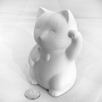 Lucky Cat Figurine Pottery   (PAINT SOLD SEPARATELY - See Below)