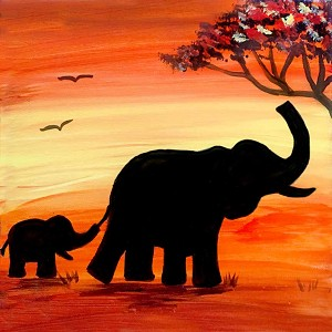 African Elephant Art Kit