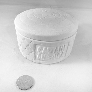 Captain America Box Pottery (PAINT SOLD SEPARATELY - See Below)