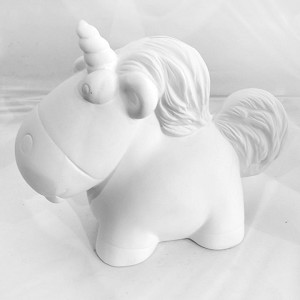 Fluffy Unicorn Bank Pottery (PAINT SOLD SEPARATELY - See Below)