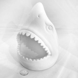 Shark Head Pottery (PAINT SOLD SEPARATELY - See Below)