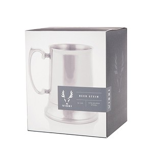 Admiral Stainless Steel Beer Stein by Viski